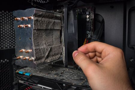 shows how much dust on the hardware of the personal computer