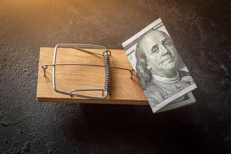 money in a mouse trap concept debt, loan, credit Zdjęcie Seryjne