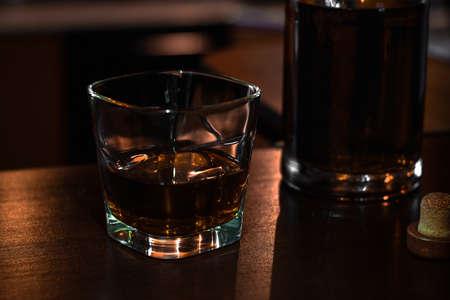 scotch single malt whiskey close-up Zdjęcie Seryjne