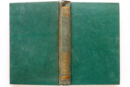 green hardback book close up isolated on white background mockup Stock Photo