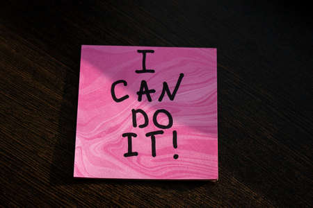 sign i can do it motivation close up