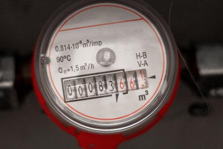 water meter close up