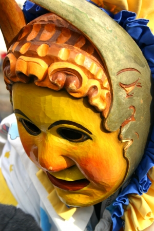 Frightening German carnival charachter