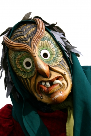 fasching: Frightening German carnival charachter