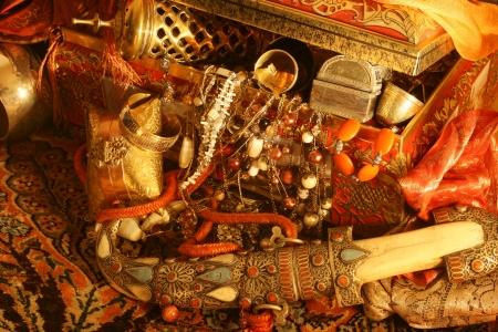 cofre del tesoro: Oriental tesoro Foto de archivo