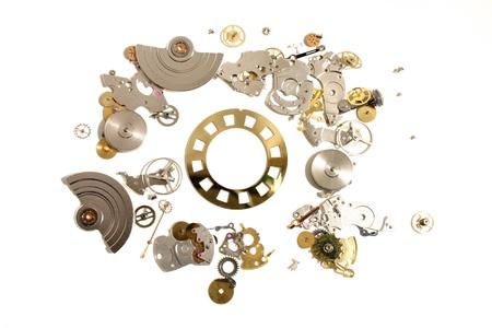 Clock parts Stock Photo