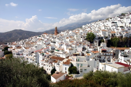 malaga: White houses of Competa in Andalusia, Spain