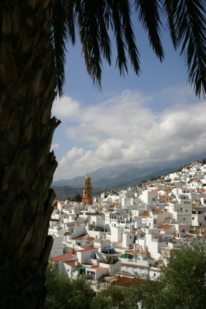 White houses of Competa in Andalusia, Spain