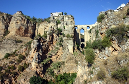 The bridge that connects the two halfs of Ronda together  photo
