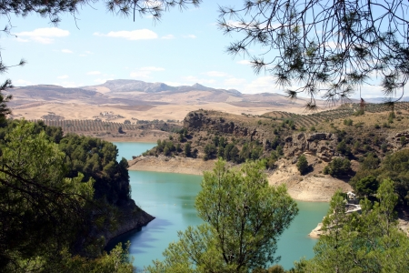 Ardales lake in Andalusia, Spain