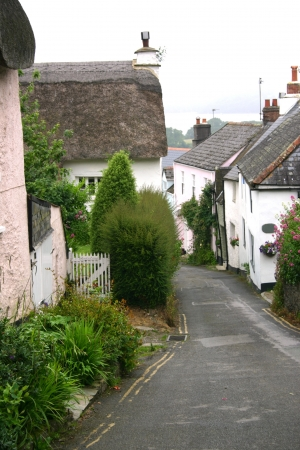 A village street in Dorset, England  photo