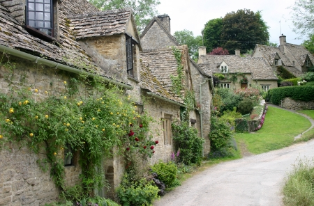 Cottages in the Cottswolds, England photo