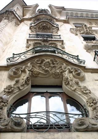Art Nouveau building in Geneva  Stock Photo