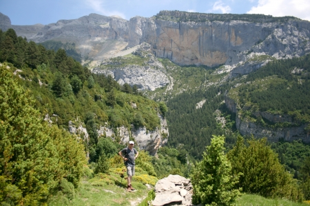 View of Sierra de la Tuscas whilst hiking in spanish Pyranees Stock Photo