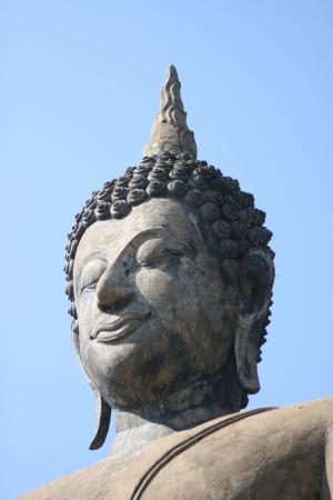 Close-Up of head of Buddha at Sukhothai
