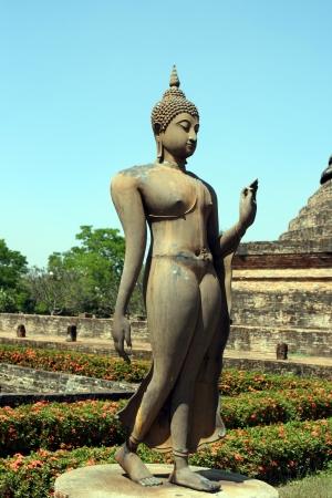 Standing Budha at Sukhouthai, Thailand