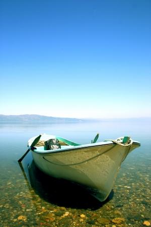 Fishing boat on Lake Iznik, Turkey