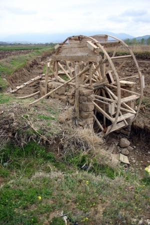 Water wheel used for irrigation in central Anatolia, Turkey   Stock Photo
