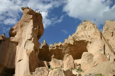 moon walker: Zelve open air museum in Cappadocia, Turkey
