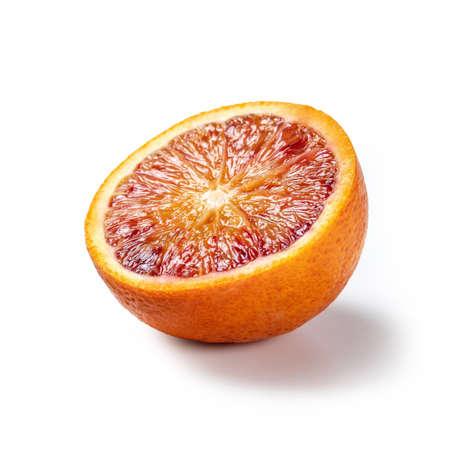 Sicilian Oranges Cut Open - Isolated on White Background