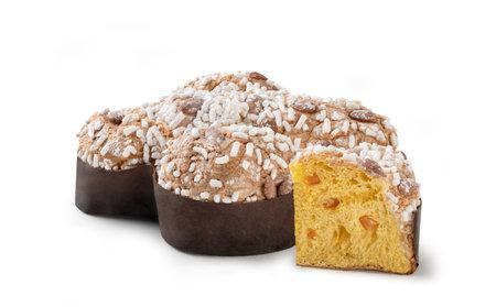 "Italian ""Easter Dove"" Sweet Bread (""Colomba Pasquale"" or ""Colomba di Pasqua"") - Isolated on White Background"