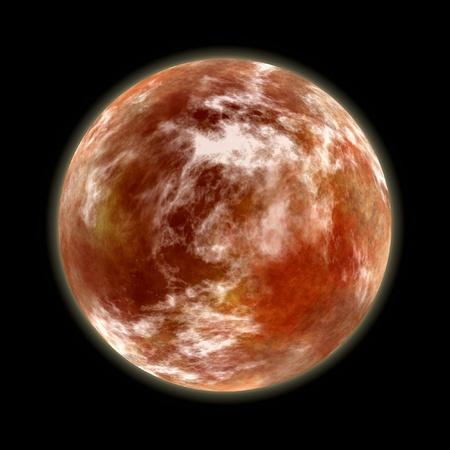 orange planet on black Stock Photo - 12010637