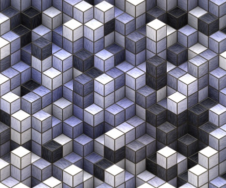 3d cubes background Stock Photo