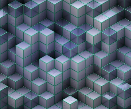 blue cubes photo