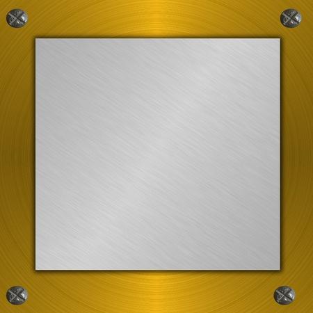 metal plate Stock Photo