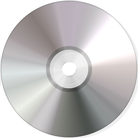 cd: isolated blank dvd