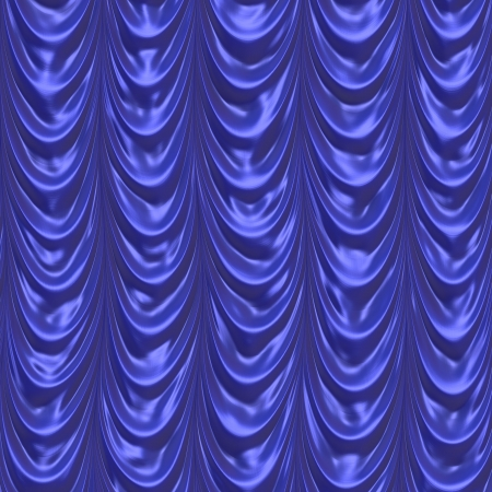 blue curtain photo