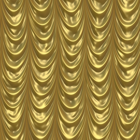 gold curtain Stock Photo - 14310461