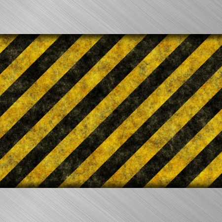 warning stripes photo