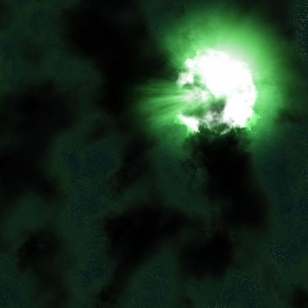 green nebula Stock Photo - 14545017