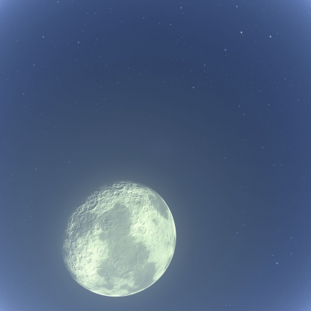 moon in space photo