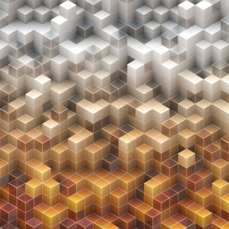 abstract cubes Stock Photo - 15136826