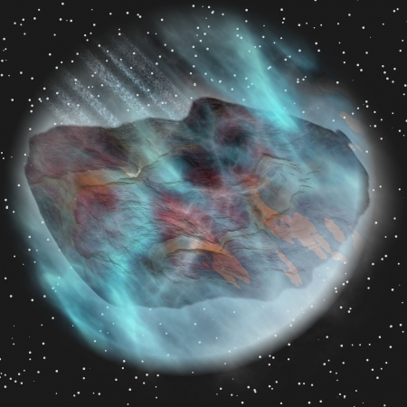 asteroid in space Stock Photo - 15173699
