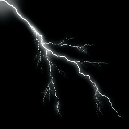 lightning storm: white thunder