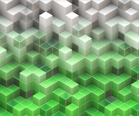 frontal: green cubes