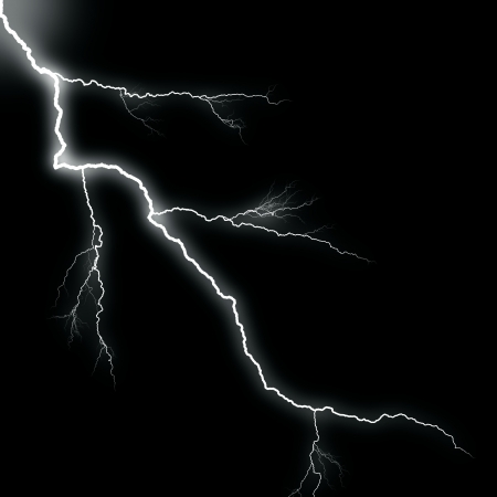rayo electrico: blanco trueno