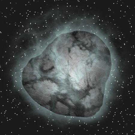 asteroid in space photo