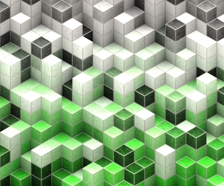 green cubes Stock Photo - 16900219