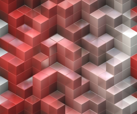 red building blocks: red cubes