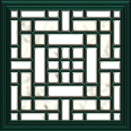oriental rug: mosaic window