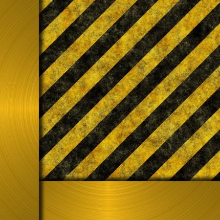 treadplate: warning sign