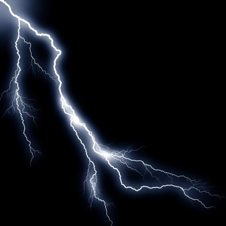 white thunder Stock Photo - 17373455
