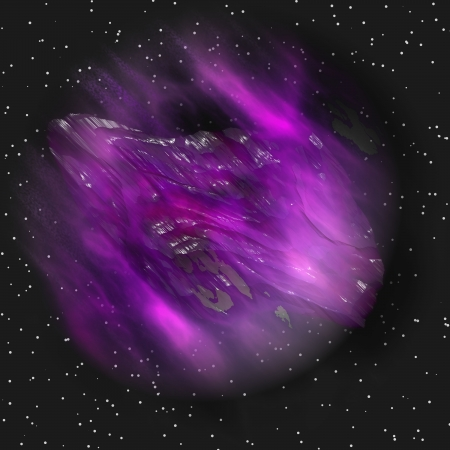 asteroid in space Stock Photo - 17418945