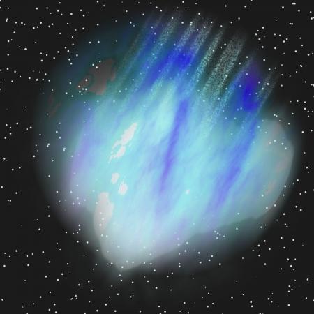 blue asteroid Stock Photo - 17472237