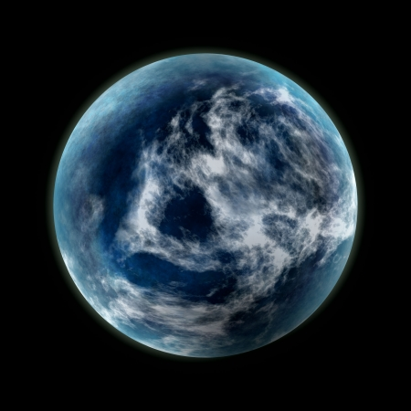 blue planet Stock Photo - 17802333