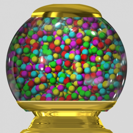 bubble gum in bowl Stock Photo - 18597379